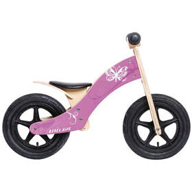 "Rebel Kidz Wood Air Loopfiets 12"" vlinder Kinderen, pink"
